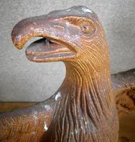 Pair of Salt Glazed Eagles c.1910 (6 of 11)