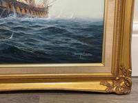 "Seascape Oil Painting Naval Frigate Ships Napoleonic War Sea ""Battle Trafalgar"" (6 of 25)"