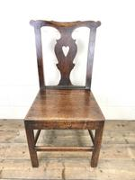 Set of Four 19th Century Oak Dining Chairs (6 of 10)