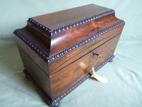 Rosewood Twin Canisters + Bowl Tea Caddy c.1840 (3 of 16)
