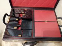 Gents Art Deco Leather Suitcase & Dressing Case (6 of 13)