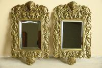 Pair of Brass Wall Mirrors (7 of 10)