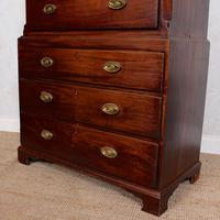 Georgian Chest on Chest of Drawers Inlaid Mahogany (4 of 12)