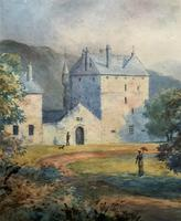 Fine 19th Century Regency Gilt Show-Framed Castle Landscape Watercolour Painting (11 of 14)