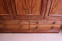 Antique Victorian Mahogany Triple Door Wardrobe (11 of 21)