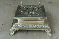 Super Large William Tonks & Sons Phoenix Brass Inkwell with Stamp Tray c.1890 (8 of 12)