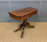 Regency Period Inlaid Rosewood Card Table (6 of 20)