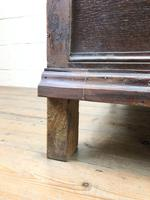 Antique Geometric Oak Chest of Drawers (9 of 10)