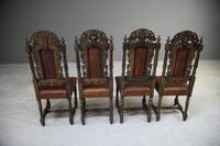 4 Carved Oak Dining Chairs (9 of 13)