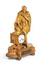 Very Fine Quality 19th Century Gilt Bronze & Bronze Mantel Clock (3 of 6)