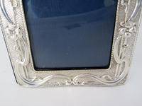Stylish Chester Silver Art Nouveau Style Photo Frame (3 of 7)