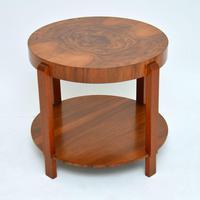 1920's Art Deco Period Walnut Coffee Table