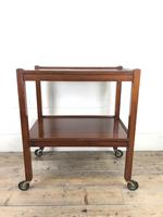 Antique Mahogany Two Tier Drinks Trolley or Tea Trolley (11 of 11)