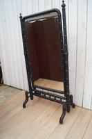 Faux Bamboo Cheval Mirror (5 of 8)