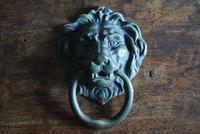 Large Antique Mid 19th Century Bronze Lion Mask Door Knocker (3 of 10)