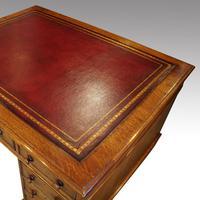 Victorian Oak Partners Desk (8 of 12)