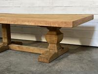 Enormous French Bleached Oak Farmhouse Dining Table (33 of 38)