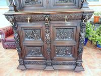 Country Oak Court Cupboard 1800 Superb Carving (5 of 12)