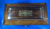 Regency Rosewood Brass Foliate Inlaid Tea Caddy (12 of 15)