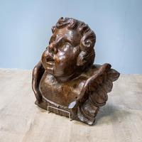Large Walnut Head of Putto (3 of 8)