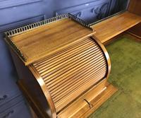 Victorian Inlaid Mahogany Writing Desk (9 of 20)