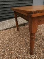 Lovely 19th century pine small farmhouse style kitchen dining table (5 of 12)
