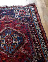Vintage Persian Handmade Rug with a Vibrant Red & Blue Ground (4 of 8)