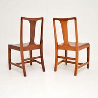 Pair of Art Deco Vintage Solid Mahogany Side Chairs (10 of 11)
