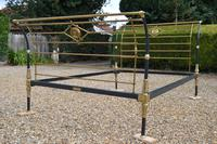 Rare Antique Victorian R.W Winfield 5ft King Size Brass & Iron Sleigh Bed (13 of 21)