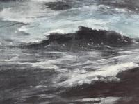 Huge 19th Century Seascape Oil Painting Sinking Ship Signalling Rescuers by Henry E Tozer (28 of 58)