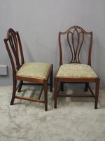 Pair of George III Mahogany Dining Chairs (10 of 10)