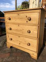 Antique Vintage Pine Small Three Drawer Chest of Drawers (6 of 8)