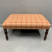Newly Upholstered & Buttoned Centre Footstool (3 of 5)