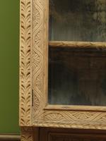 Antique Limed Oak Display Cabinet, Victorian rustic bohemian wall cabinet (11 of 16)