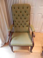 William IV arm chair, unmarked upholstery.