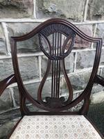Antique Mahogany Desk Chair (2 of 6)