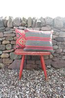 Early 20th Century, Antique Swedish Woven Textile, Geometric Patterned 're-stuffed cushions' (7 of 20)