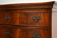 Antique Mahogany Serpentine Chest on Chest (11 of 12)