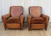 Pair of French Leather Club Chairs (2 of 9)