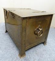 Arts & Crafts Brass Coal Bin / Log Bin (2 of 6)