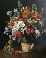 Herbert Davis Richter Oil Painting 'Floral Revel