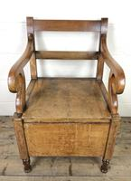 19th Century Oak Armchair Commode (4 of 10)