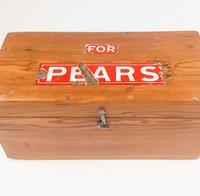 Pears Enamel Advertising Pine Box (3 of 7)