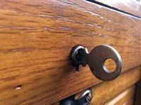Antique Oak Double Filing Cabinet (6 of 10)