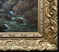 William R Stone Lovely Dolgilly North Wales Landscape Painting (10 of 13)