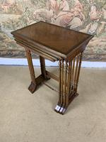 Late 19thC Nest Of Four Tables with Brass Banding (6 of 7)