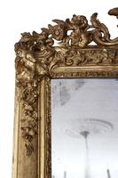 19th Century Large Quality Gilt Wall / Overmantle Mirror (4 of 7)
