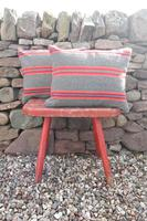 Early 20th Century, Antique Swedish Woven Textile, Geometric Patterned 're-stuffed cushions' (11 of 20)