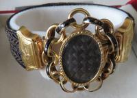 15ct Gold Mourning Hair Bracelet Champleve Enamel (5 of 5)