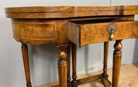 Late Victorian Burr Walnut Card Table (2 of 9)